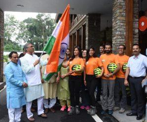 Uttarakhand, Chief Minister Trivendra Singh Rawat flagged off twin sisters