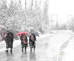 The Meteorological Department issued a warning that there will be heavy snowfall till 6 to 9 January…