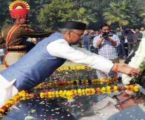 New Delhi: Chief Minister Trivendra Singh Rawat paid tribute to the martyrs at the police memorial…