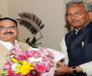 Chief Minister Trivendra Singh Rawat met National President JP Nadda…