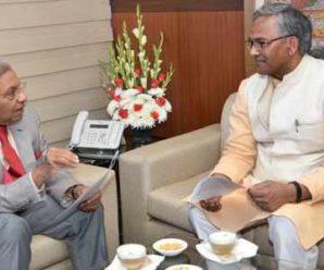 Chief Minister Trivendra Singh Rawat met 15th Finance Commission Chairman NK Singh….