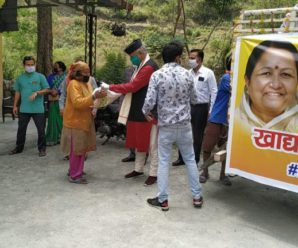Ration kits distributed in Mussoorie Assembly constituency through Hans Foundation.
