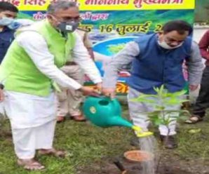 The Governor and Chief Minister started the campaign by planting saplings on Harela …