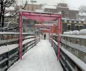 Today's Weather:  Snowfall in the high peaks of Uttarakhand; fog enveloped many areas..