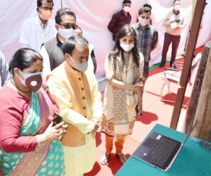Chief Minister Shri Tirath Singh Rawat on Monday inaugurated the 200 LPM Oxygen Generation Plant at District Hospital Gopeshwar at a cost of 45.90 lakhs