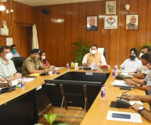 Chief Minister Shri Pushkar Singh Dhami reviewed the excessive rainfall and disaster management in the state through video conferencing at the Secretariat.
